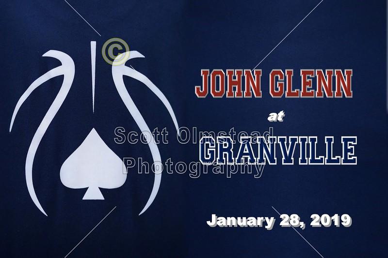 John Glenn High School Muskies at Granville High School Blue Aces - Monday, January 28, 2019