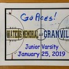 Junior Varsity - Watkins Memorial High School Warriors at Granville High School Blue Aces - Saturday, January 25, 2020