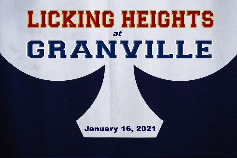 Licking Heights High School Hornets at Granville High School Blue Aces - Saturday, January 16, 2021