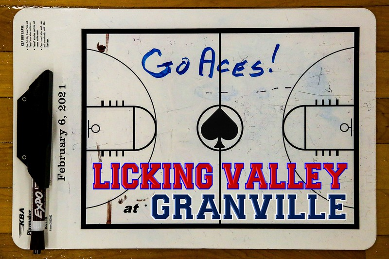 Licking Valley High School Panthers at Granville High School Blue Aces - League Champions- Saturday, February 6, 2021