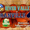 OHSAA State Tournament - Marion River Valley High School Vikings at Granville High School Blue Aces - Wednesday, February 24, 2021