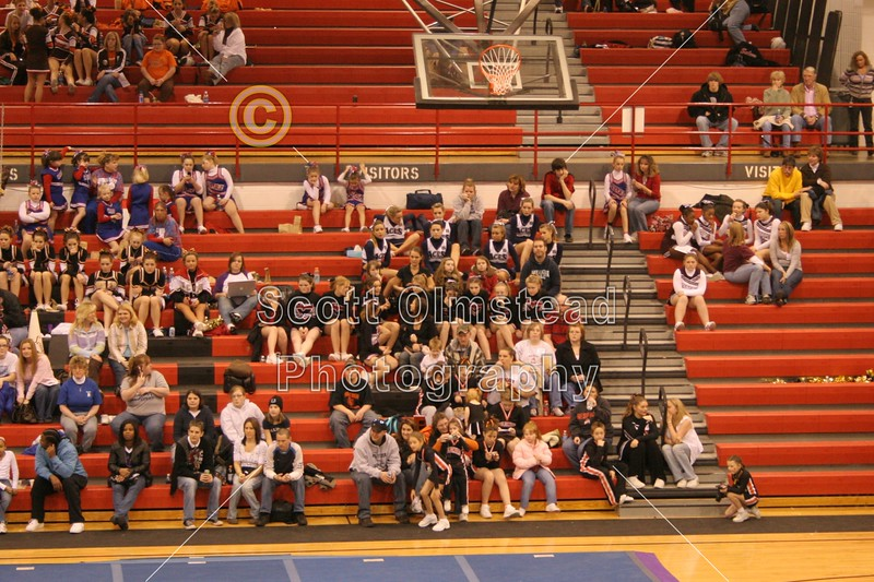 Sunday, February 24, 2008 - First place finish for the Granville Blue Aces at the Coshocton High School Cheer Competition