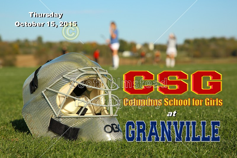 Columbus School for Girls High School Unicorns at Granville High School Blue Aces - Thursday, October 15, 2015