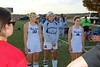 Team Captains and the Coin Toss - Columbus School for Girls High School Unicorns at Granville High School Blue Aces - Thursday, October 15, 2015