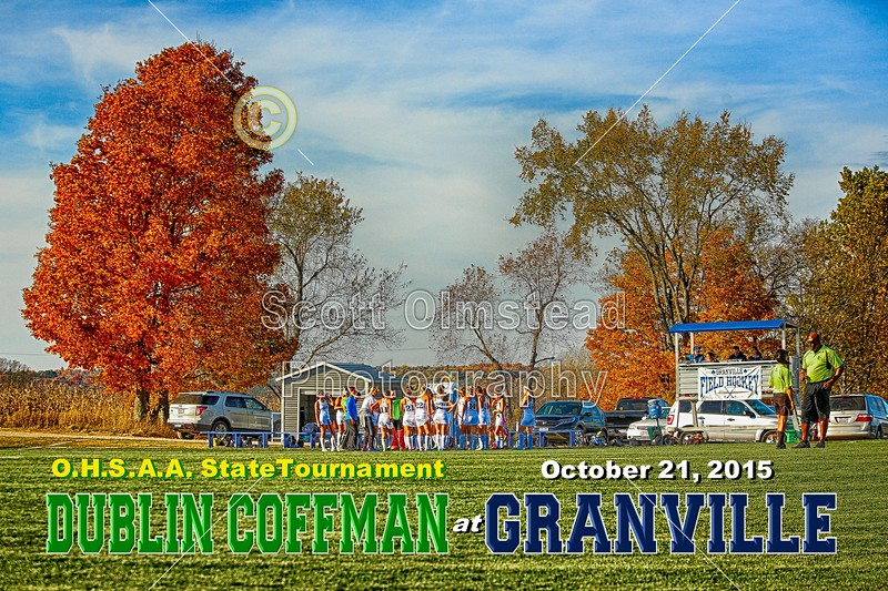Dublin Coffman High School Shamrocks at Granville High School Blue Aces - O.S.H.A.A State Tournament - Wednesday, October 21, 2015