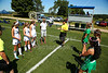 Team Captains and the Coin Toss - Dublin Scioto High School Irish at Granville High School Blue Aces - Saturday, August 22, 2105