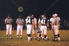 The coin toss with team captains Olmy Olmstead and Dusty Sanna - Various photographs from the Granville Blue Aces 1999 football season  -  (Old Canon AE-1 film camera)