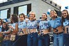 The Student Section - Various photographs from the Granville Blue Aces 1999 football season  -  (Old Canon AE-1 film camera)