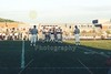 The coin toss with team captains Dusty Sanna and Olmy Olmstead - Various photographs from the Granville Blue Aces 1999 football season  -  (Old Canon AE-1 film camera)