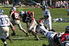 (85) Alex Miller, (51) Nate Hurst, (47) Brett Marlowe - October 1, 2005 Granville Blue Aces at Columbus Academy Vikings, JV Football