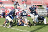 (24) Brandon Tackett, (80) Andy Franks-Rogers, (20) Freddie Wolf, (51) Nate Hurst, (74) Trent Wills - October 15, 2005 Granville Blue Aces at Licking Valley Panthers JV Football