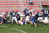 (51) Nate Hurst, (74) Trent Wills, (15) Russell Seidell, (72) Herb Breymaier - October 15, 2005 Granville Blue Aces at Licking Valley Panthers JV Football