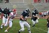 (71) Skylar Farley, (18) Adam Alderman, (64) Anthony Burger - August 27, 2005 Granville Blue Aces at Johnstown Johnnies, JV Football