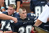 (74) Trent Wills, (20) Freddie Wolf - August 27, 2005 Granville Blue Aces at Johnstown Johnnies, JV Football