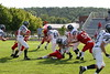 (71) Jon Jones, (15) Russell Seidell, (64) Anthony Burger,  (22) Max Vohsing, (74) Trent Wills, (9) Ben Hettler - September 3, 2005 Utica Redskins at Granville Blue Aces, JV Ball