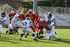 (51) Nate Hurst, (74) Trent Wills, (85) Alex Miller, (54) Grant Willis - September 3, 2005 Utica Redskins at Granville Blue Aces, JV Ball