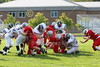 (76 on the tackle) Maike Thompson - September 3, 2005 Utica Redskins at Granville Blue Aces, JV Ball