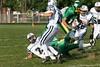 (2) Tucker McKenzie, (21) Devon Dager, (26) Alex Marcum - September 14, 2009 Granville Blue Aces at Newark Catholic Green Wave, Freshman Football