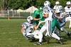 (2) Tucker McKenzie, (210 Devon Dager, (55) Kenny Schrader - September 14, 2009 Granville Blue Aces at Newark Catholic Green Wave, Freshman Football