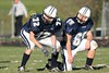 (72) mathew Lepak, (65) Brandon Tietz - October 26, 2009 Lakewood Lancers at Granville Blue Aces, Freshman Football