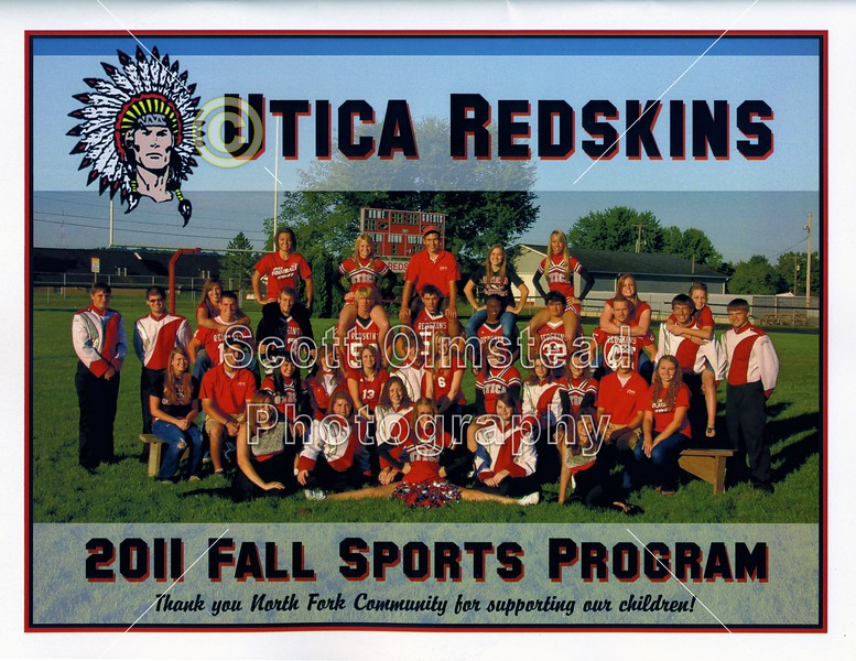 Game Program - Friday, September 2, 2011 - Granville Blue Aces at Utica Redskins