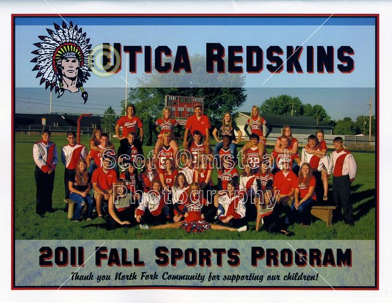 Game Program - Friday, September 2, 2011 - Granville Blue Aces at Utica Redskins