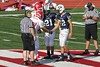 Team Captains & Coin Toss - Saturday, August 27, 2011 - Granville Blue Aces at Johnstown Johnnies - JUNIOR VARSITY