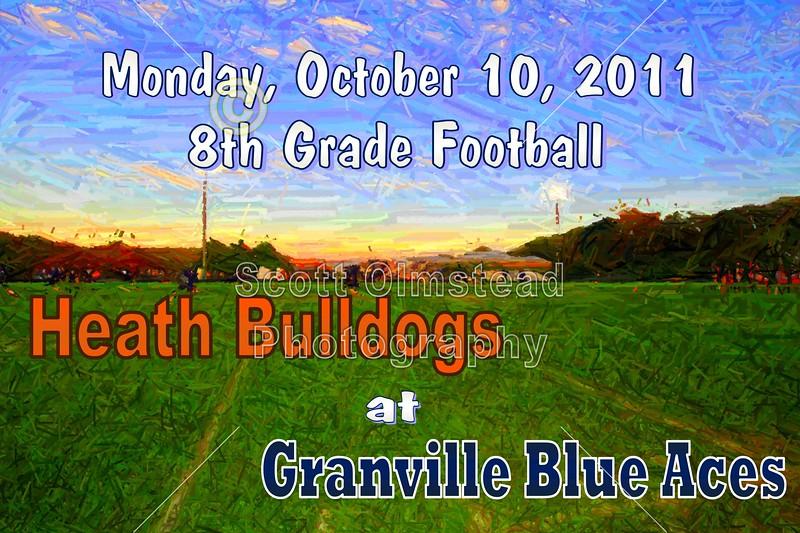Monday, October 10, 2011 - Heath Bulldogs at Granville Blue Aces - 8th GRADE