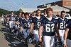 """The Blue Aces make their way to """"The Ace"""" for pregame warm-ups - Friday, August 26, 2011 - Johnstown Johnnies at Granville Blue Aces - VARSITY"""