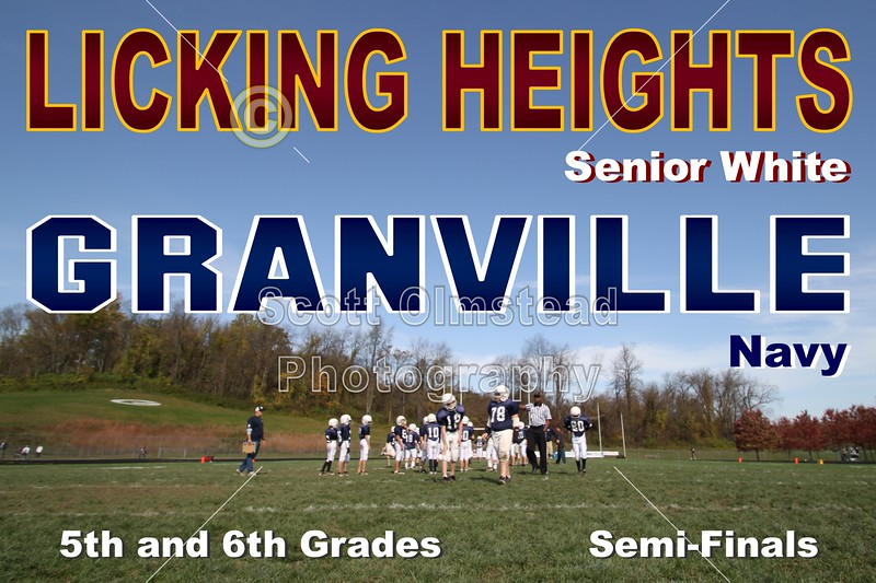 Sunday, October 23, 2011 - Licking Heights (Senior White) Hornets at Granville (Navy) Blue Aces - 5th and 6th Grades