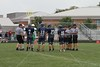 Team Captains and the Coin Toss - Tuesday, September 6, 2011 - Newark Catholic Green Wave at Granville Blue Aces - 8th Grade Football