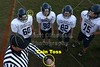 Team Captains and the Coin Toss - Monday, October 8, 2012 - Granville Middle School Blue Aces at Heath Middle School Bulldogs - 7th GRADE