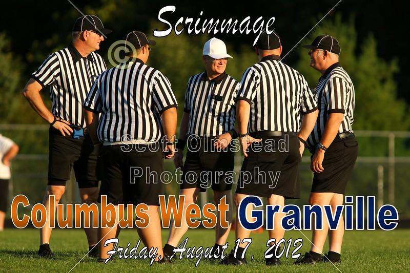 Friday, August 17, 2012 - Columbus West Cowboys at Granville Blue Aces - Pre-Season Scrimmage