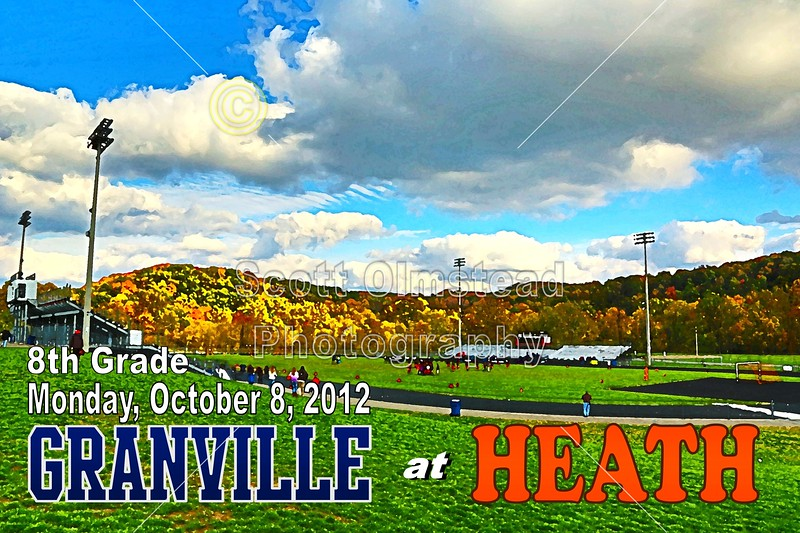 HDR Special Effect Added - Monday, October 8, 2012 - Granville Middle School Blue Aces at Heath Middle School Bulldogs - 8th GRADE