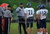 Team Captians and the Coin Toss - Monday, October 8, 2012 - Granville Middle School Blue Aces at Heath Middle School Bulldogs - 8th GRADE