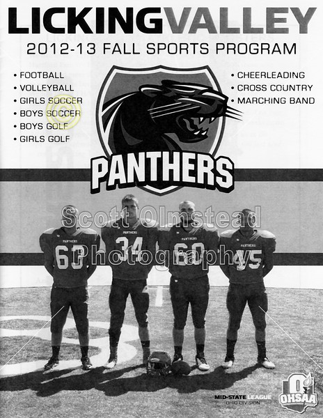 Official Game Program - Friday, September 21, 2012 - Granville Blue Aces at Licking Valley Panthers