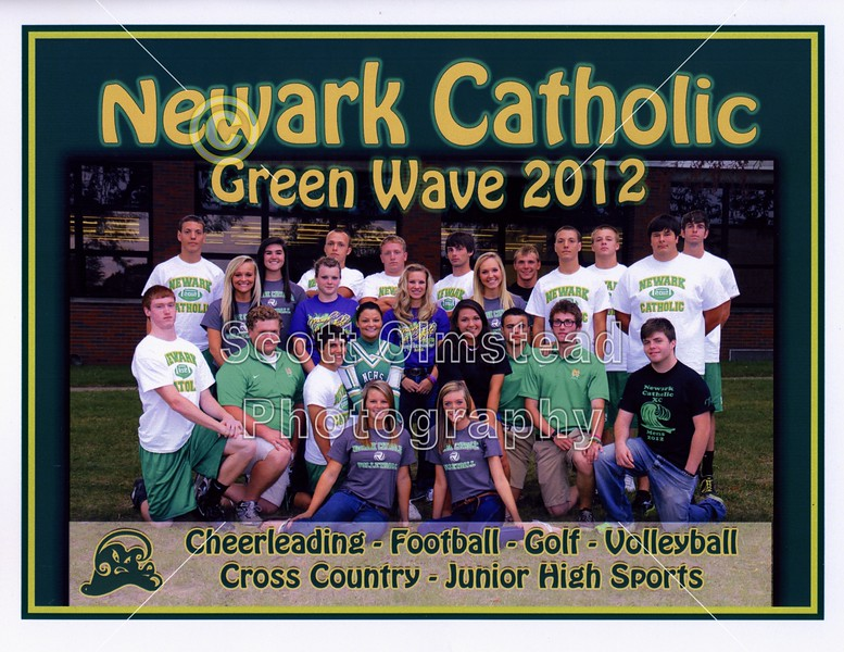 Official Game Program - Friday, October 19, 2012 - Granville Blue Aces at Newark Catholic Green Wave (in the rain)