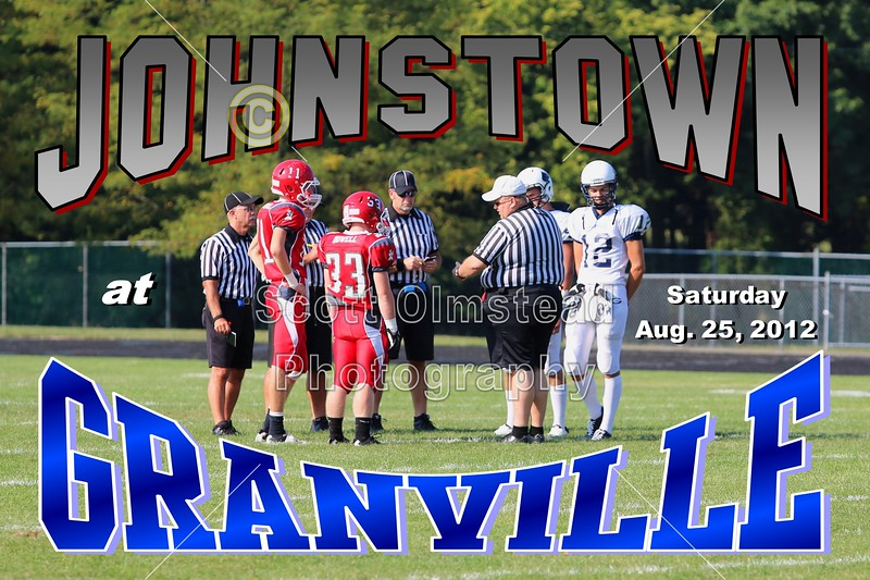 Saturday, August 25, 2012 - Johnstown Johnnies at Granville Blue Aces - JUNIOR VARSITY