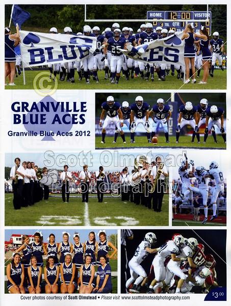 Official Game Program - Friday, October 12, 2012 - Lakewood Lancers at Granville Blue Aces