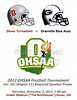 Official Game Program - Saturday, November 3, 2012 - Granville Blue Aces at Dover Tornadoes - OHSAA Playoffs
