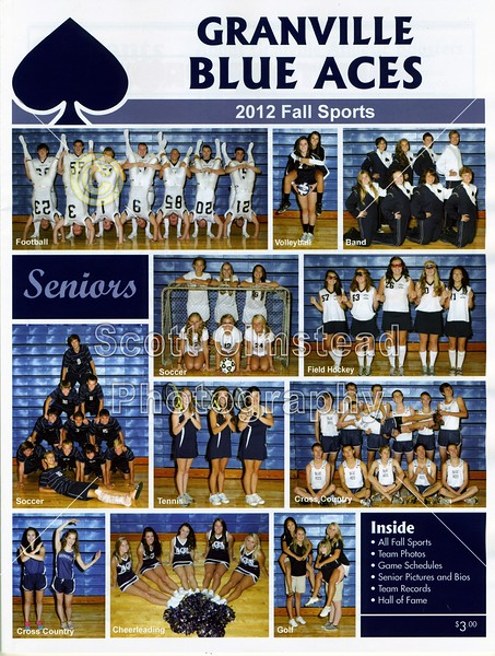 Official Game Program - Friday, August 31, 2012 - Utica Redskins at Granville Blue Aces