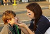 Tailgate Face Painting - Friday, September 28, 2012 - Whitehall-Yearling Rams at Granville Blue Aces - HOMECOMING
