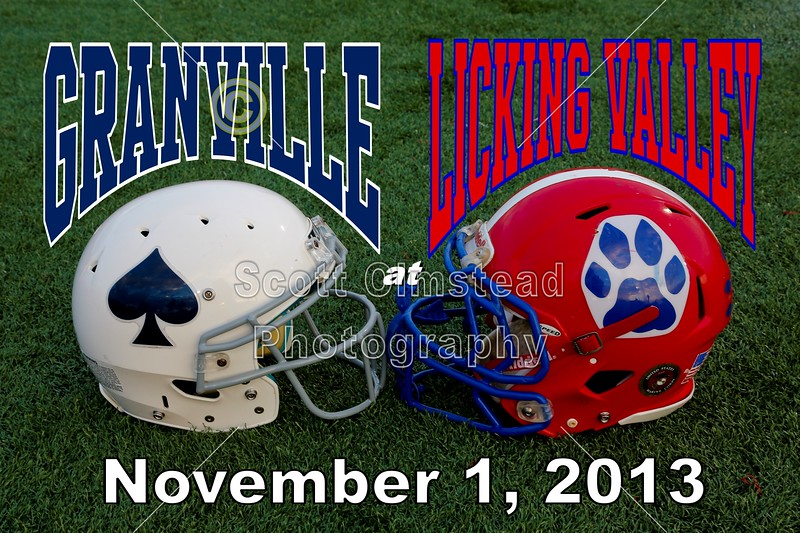 Friday, November 1, 2013 - Granville Blue Aces at Licking Valley Panthers