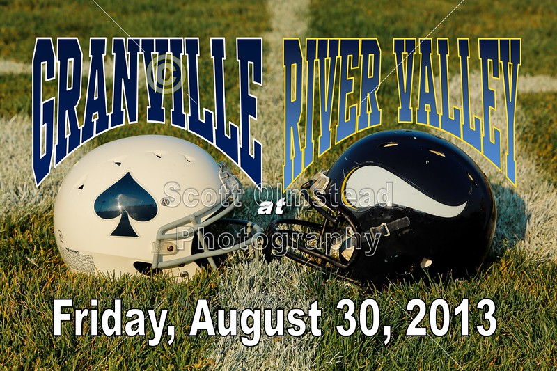 Friday, August 30, 2013 - Granville High School Blue Aces at River Valley High School Vikings
