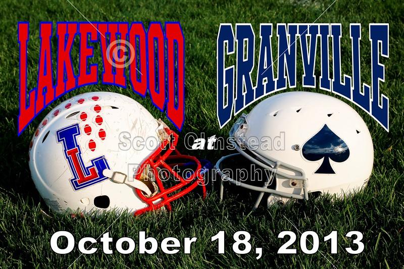 Friday, October 18, 2013 - Lakewood Lancers at Granville Blue Aces - Senior Night