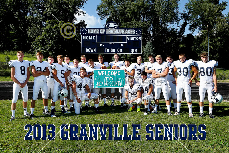 Introducing the 2013 Granville Blue Ace Seniors - Sunday, August 4, 2013.