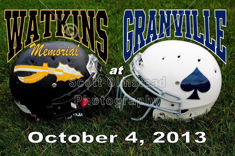 Friday, October 4, 2013 - Watkins Memorial Warriors at Granville, Blue Aces - Homecoming