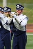 The Granville Blue Ace Marching Band performing at the Denison University football game versus Wabash College - Saturday, September 20, 2014