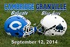 Cambridge High School Bobcats at Granville High School Blue Aces - Senior Night - Friday, September,  12, 2014