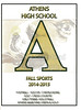 Official Game Program - Granville High School Blue Aces at Athens High School Bulldogs for the First Round of the O.H.S.A.A. Playoffs - Friday, November 7, 2014